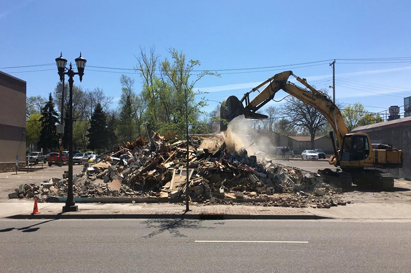 Vacant Building Leveled for Creation of Little Mekong Plaza