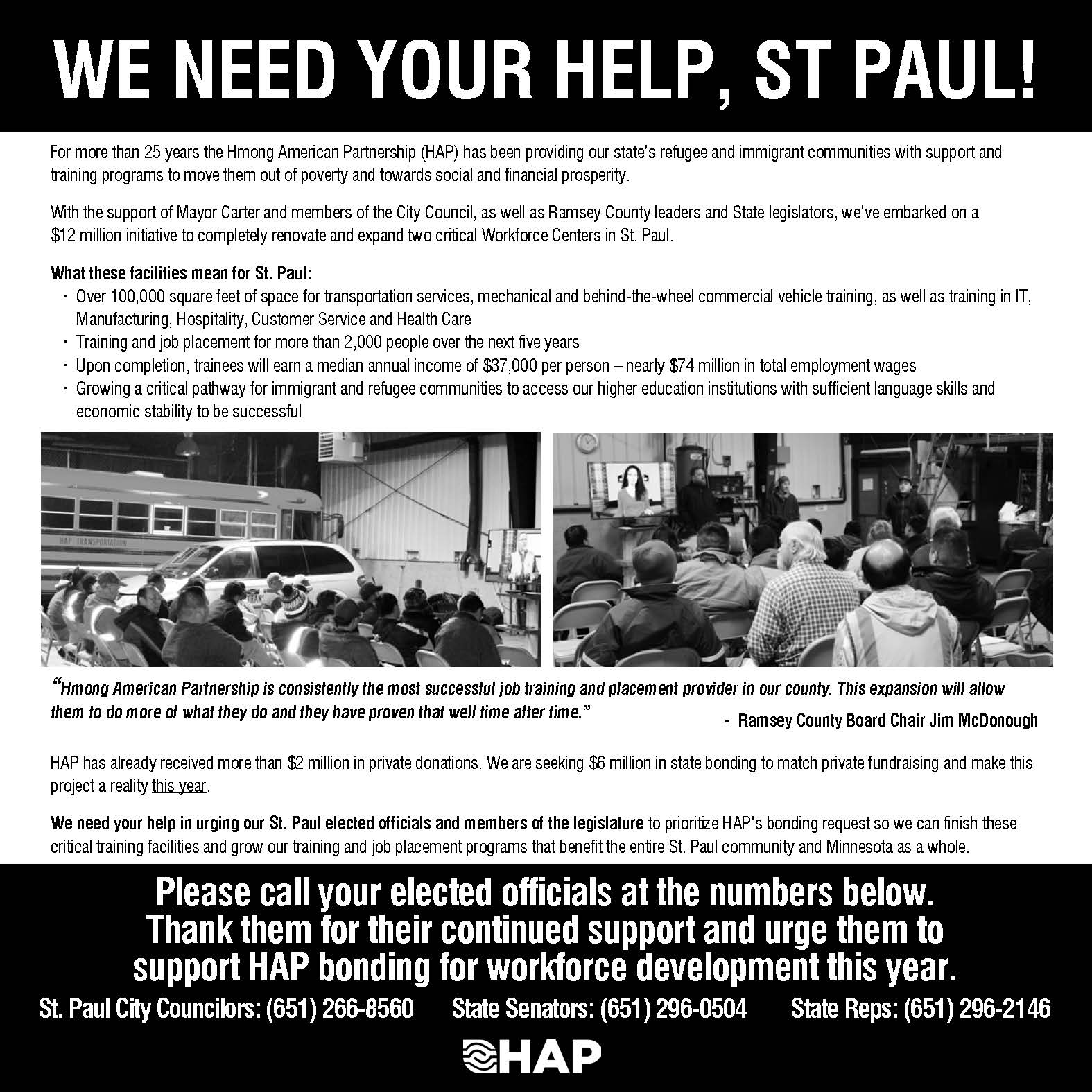 We Need Your Help! – Critical Workforce Centers for Saint Paul