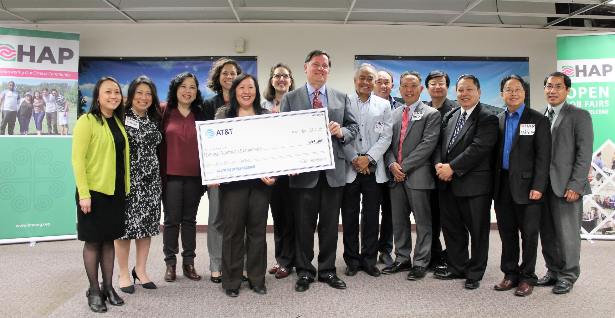 AT&T grant for HAP Youth Job Skills program