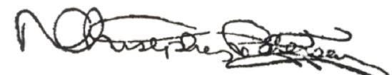 Christopher Petersen signature